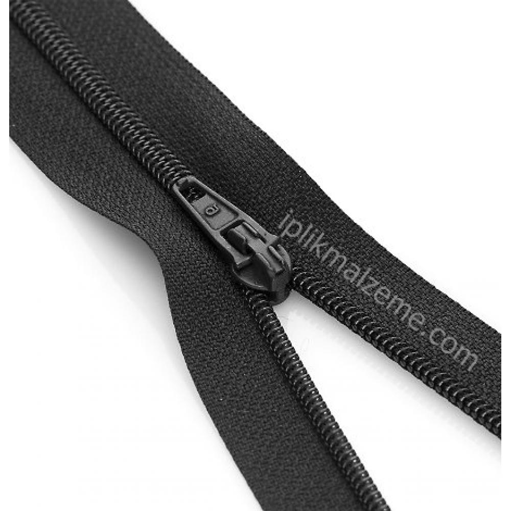 Fermuar 18 cm Siyah / Beyaz   100 adet