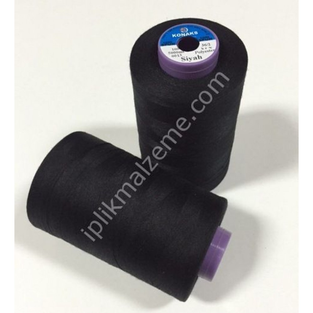 Konaks 100 no Sürekli Polyester Dikiş İpliği 5000 mt.Renkli