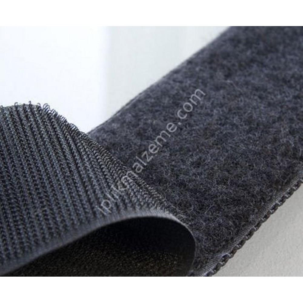 Cırt Bant 4 cm siyah / beyaz - 1 takım ters ve düz 25 mt