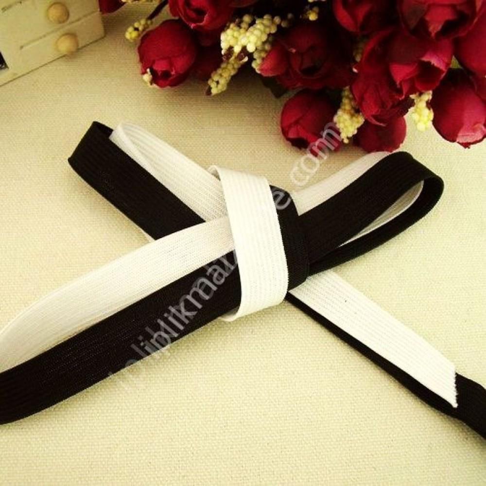 siyah örme lastik 2 cm - 2,5 cm - 3 cm - 3,5 cm - 4 cm - 5 cm 3 cm