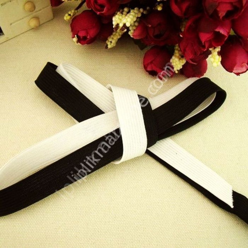 siyah örme lastik 2 cm - 2,5 cm - 3 cm - 3,5 cm - 4 cm - 5 cm 2 cm