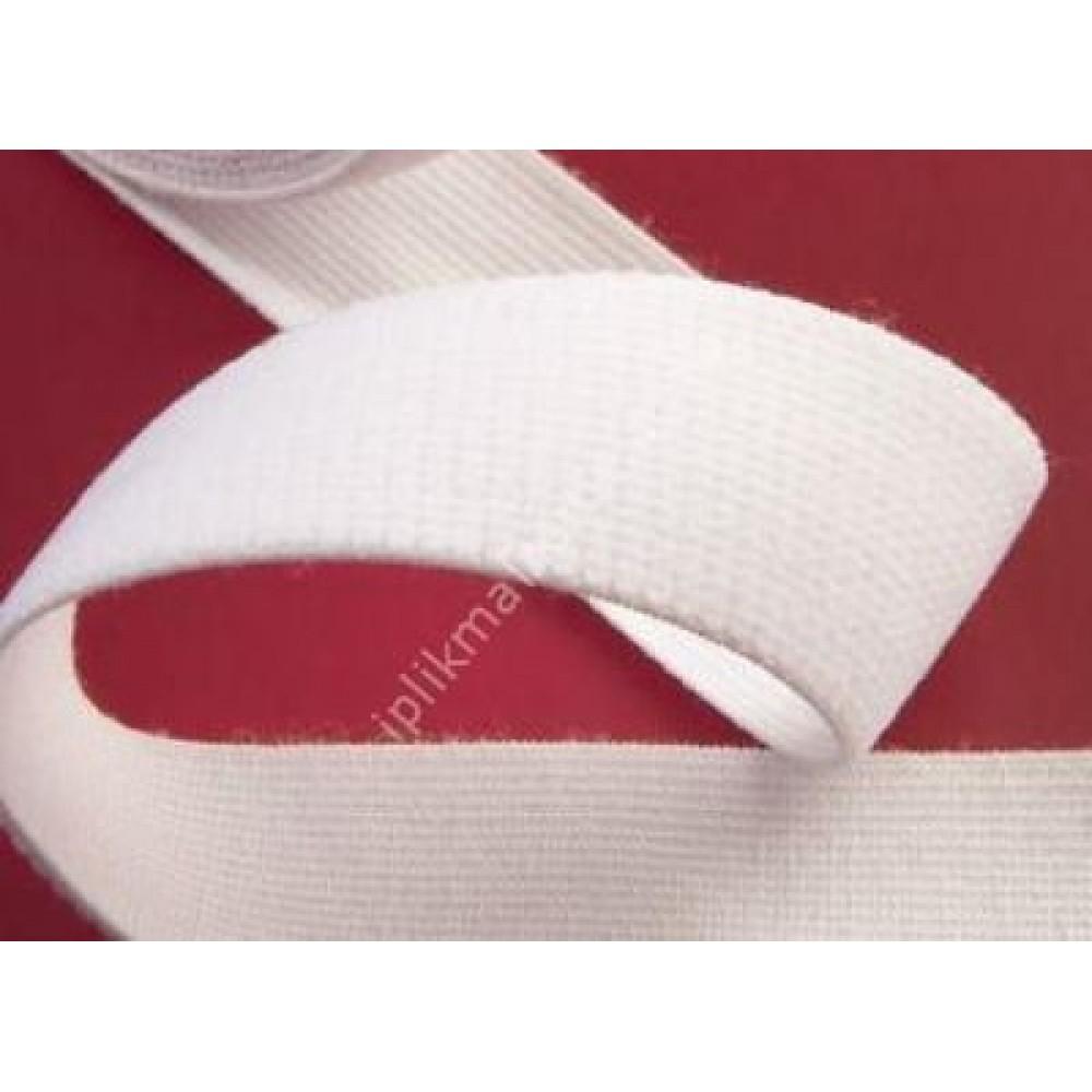 Örme lastik beyaz 1,5 cm - 2 cm - 2,5 cm - 3 cm - 3,5 cm - 4 cm - 5 cm