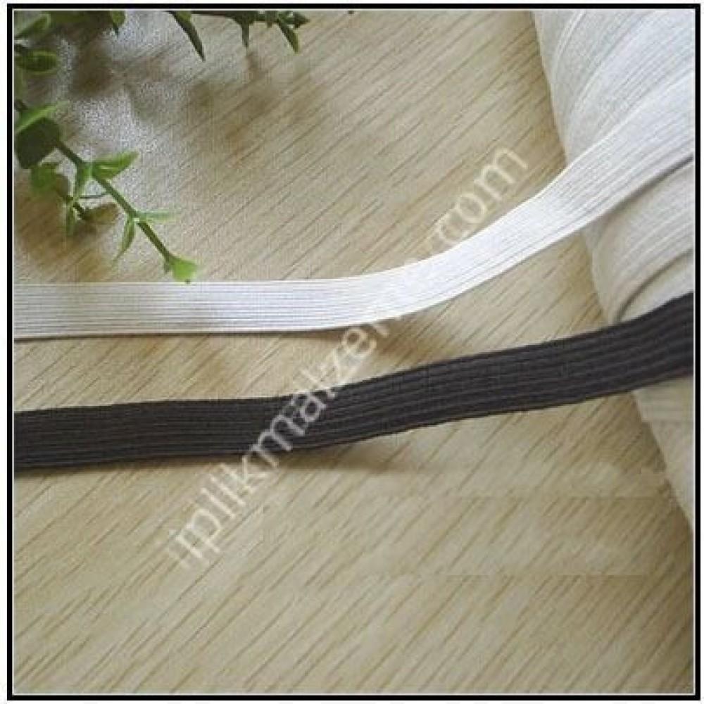 örme lastik beyaz 0,50 cm - 1 cm - 1,50 cm 1 cm