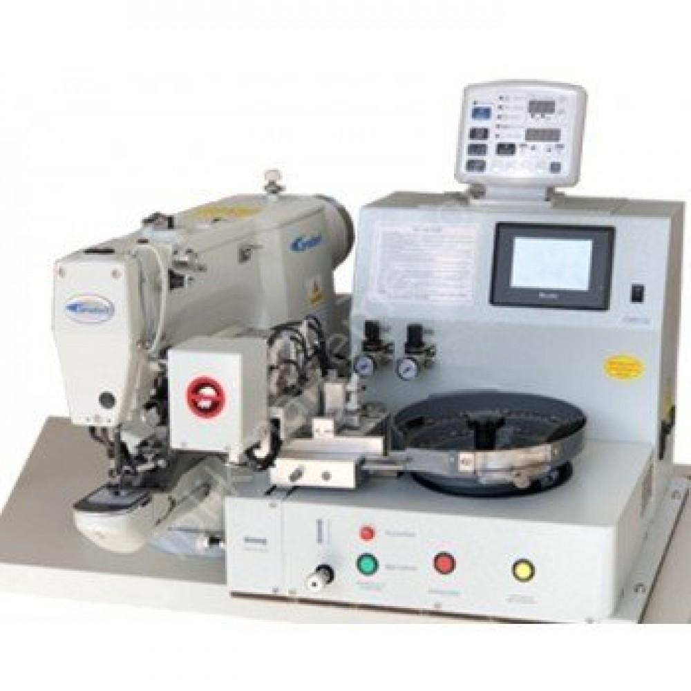 Broderi BD-438D/K Otomatik Kovalı Kilit Dikiş Düğme Makinesi