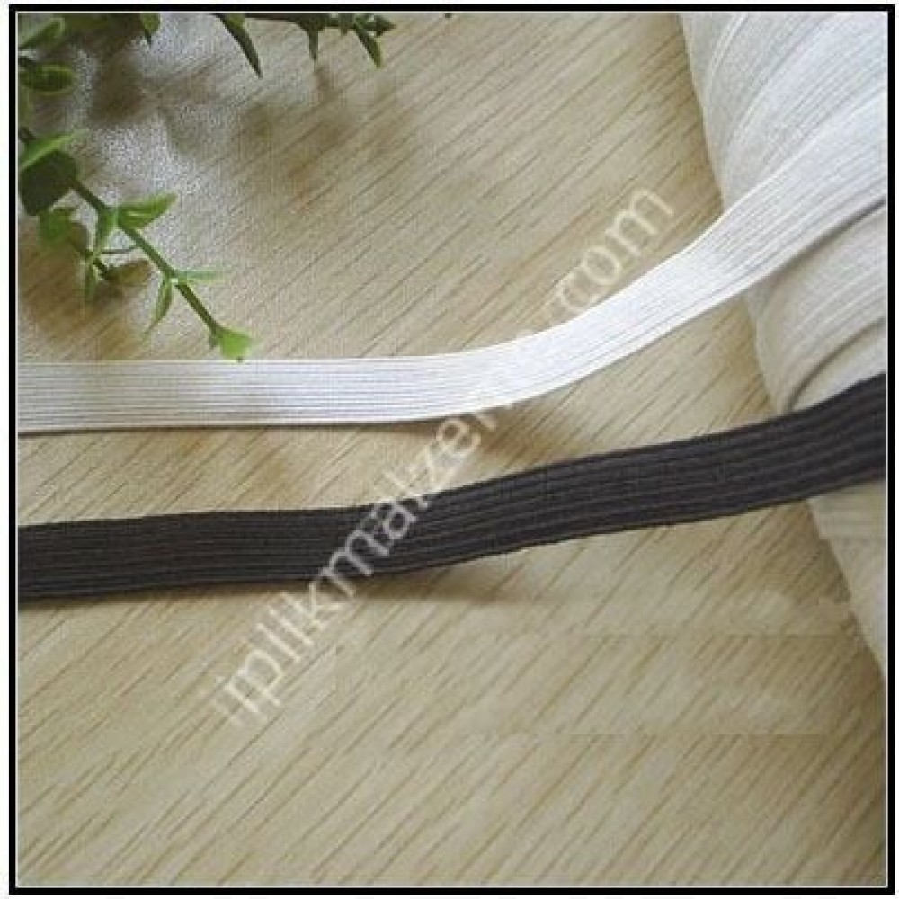 örme lastik beyaz 0,50 cm - 1 cm - 1,50 cm 1,5 cm