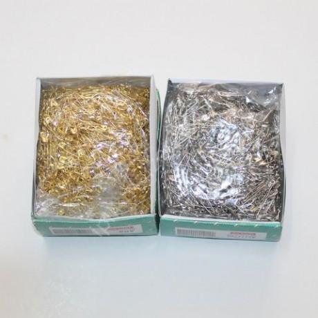 Çengelli İğne Gümüş/Sarı/Siyah 1 kutu